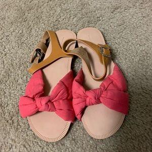 Zara girls pink sandals